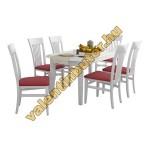 Beluga 6 étkező Dante asztallal